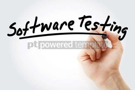 Business: Hand writing software testing with marker #08942