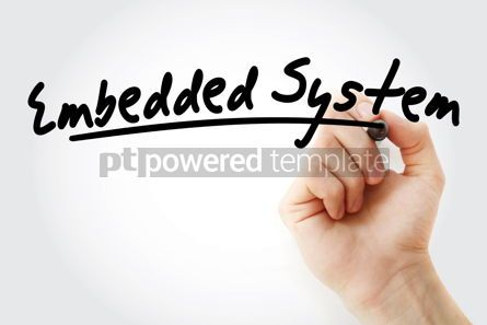 Business: Hand writing Embedded system with marker #08943