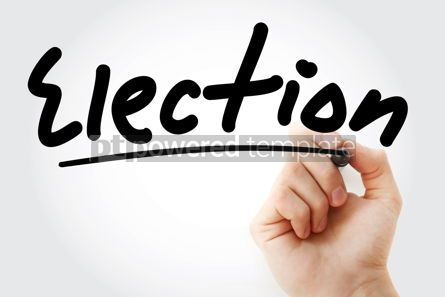 Business: Hand writing Election with marker #08947