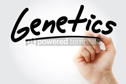 Business: Hand writing Genetics with marker #08949