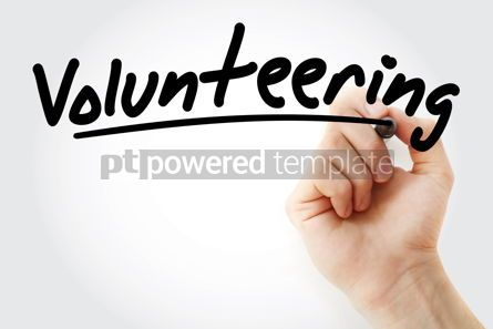 Business: Hand writing Volunteering with marker #08952
