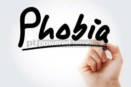 Business: Hand writing Phobia with marker #08958