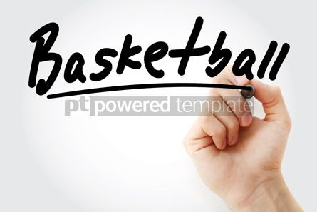 Business: Hand writing Basketball with marker #08960