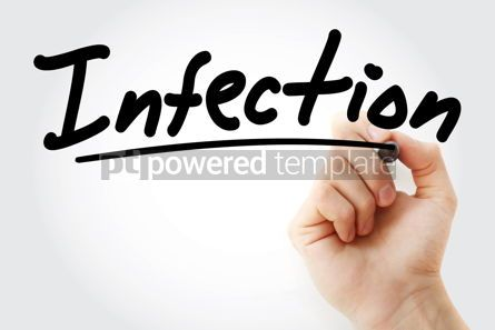 Business: Hand writing Infection with marker #08963