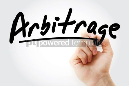Business: Hand writing Arbitrage with marker #08965