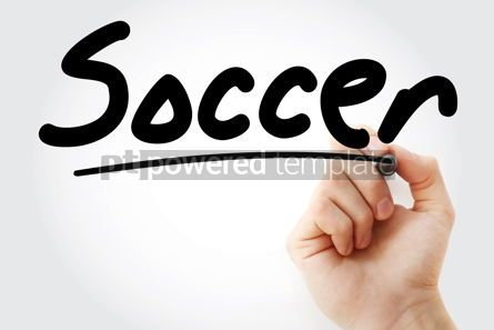 Business: Hand writing Soccer with marker #08970