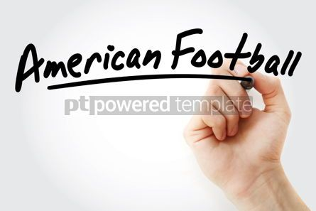 Business: Hand writing American football with marker #08971