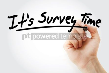 Business: Hand writing It's Survey Time with marker #08972