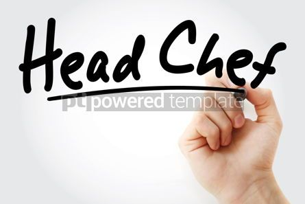 Business: Hand writing head chef with marker #08976