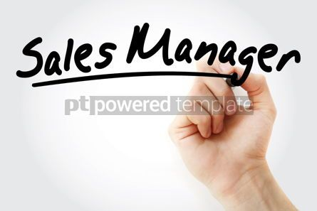 Business: Hand writing sales manager with marker #08977