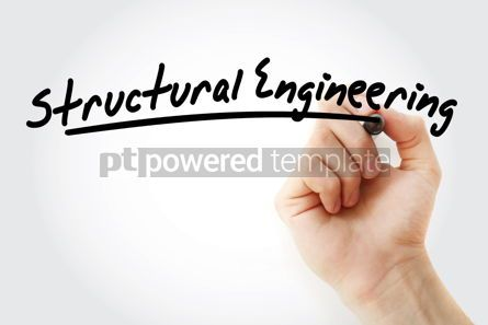 Business: Hand writing structural engineering with marker #08980