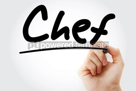 Business: Hand writing chef with marker #08982