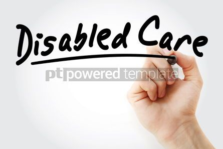 Business: Hand writing disabled care with marker #08985