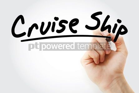 Business: Hand writing Cruise ship with marker #08987