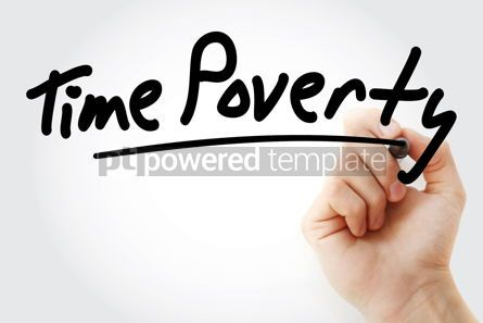 Business: Hand writing time poverty with marker #08994