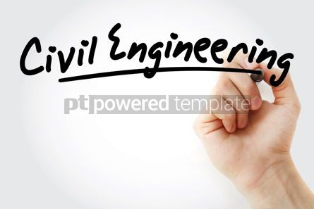 Business: Hand writing civil engineering with marker #08995