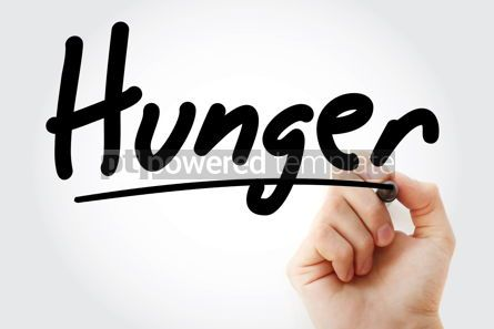 Business: Hand writing hunger with marker #09004