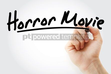 Business: Hand writing Horror movie with marker #09006