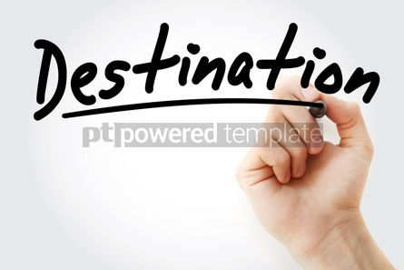 Business: Hand writing Destination with marker #09007