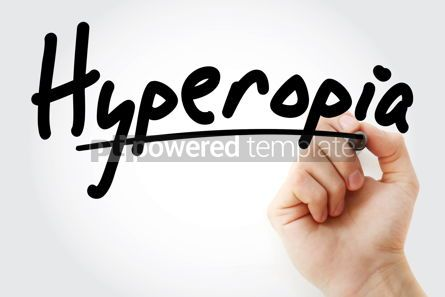 Health: Hand writing Hyperopia with marker #09010