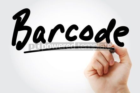 Business: Hand writing Barcode with marker #09012