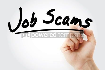 Business: Hand writing job scams with marker #09015