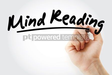 Business: Hand writing mind reading with marker #09017