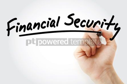Business: Hand writing financial security with marker #09018