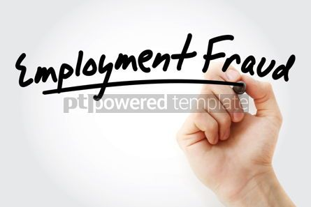 Business: Hand writing employment fraud with marker #09029