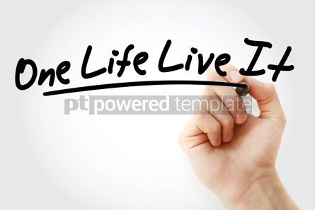Business: Hand writing One Life Live It with marker #09030