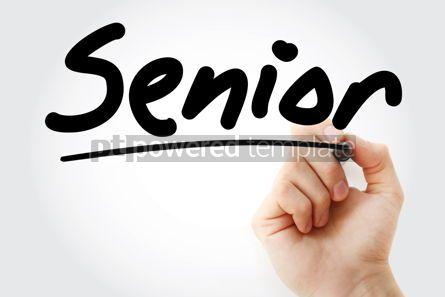 Health: Hand writing Senior with marker #09033