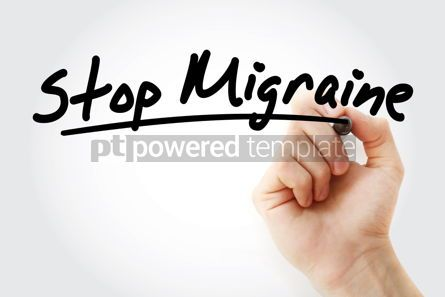 Health: Hand writing Stop Migraine with marker #09037