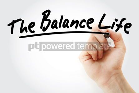 Health: Hand writing The Balance Life with marker #09045