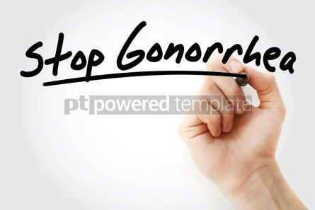 Health: Hand writing Stop Gonorrhea with marker #09046