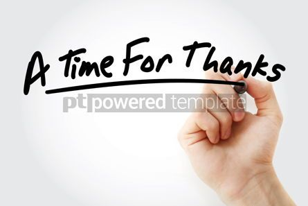 Health: Hand writing A Time For Thanks with marker #09052