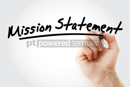 Business: Hand writing Mission Statement with marker #09056