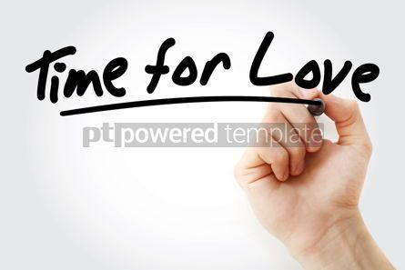 Business: Hand writing Time for Love with marker #09057