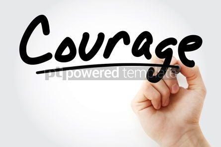 Business: Hand writing Courage with marker #09061