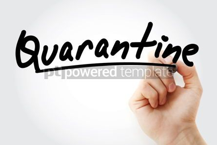 Business: Hand writing Quarantine with marker #09074