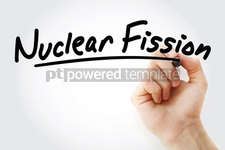 Business: Hand writing Nuclear fission with marker #09075