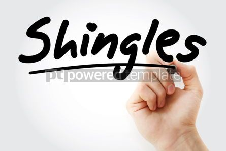 Business: Hand writing Shingles with marker #09077