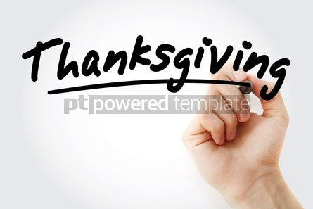 Business: Hand writing Thanksgiving with marker #09081
