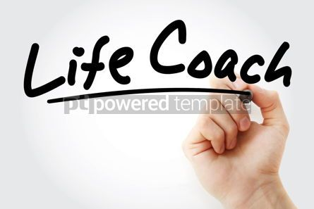 Business: Hand writing Life Coach with marker #09083