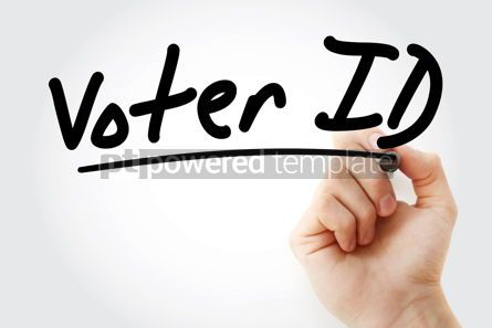 Business: Hand writing Voter ID with marker #09085