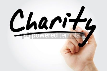 Business: Hand writing Charity with marker #09086