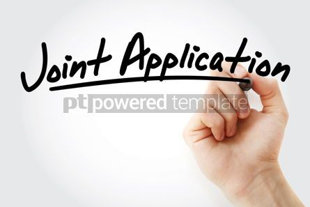 Business: Hand writing Joint Application with marker #09091