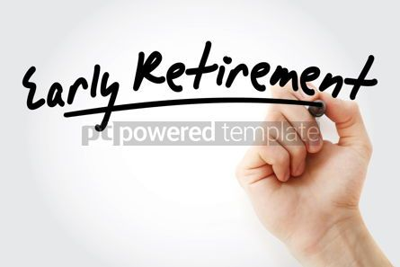 Business: Hand writing Early Retirement with marker #09092