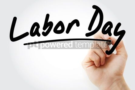 Business: Hand writing Labor Day with marker #09096