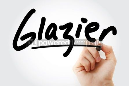 Business: Hand writing Glazier with marker #09108