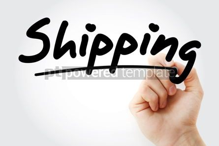 Business: Hand writing Shipping with marker #09114